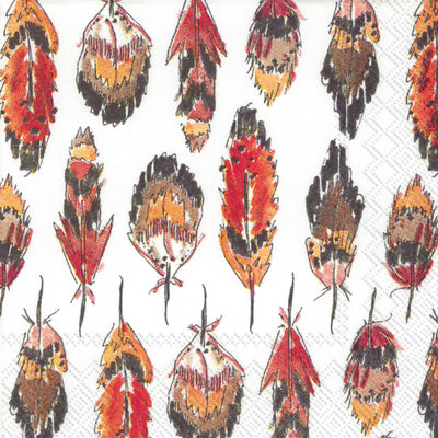 Fall Feathers (Beverage Napkin)