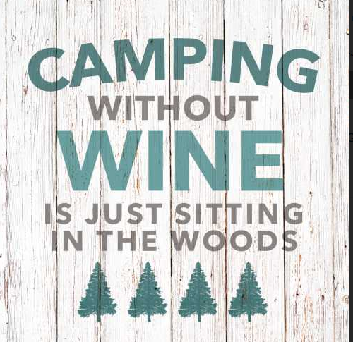 Camping Without Wine (Beverage Napkin)