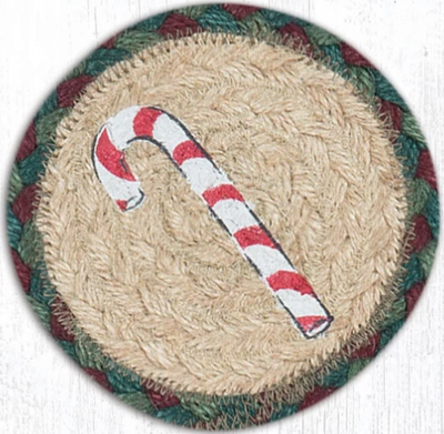 "Candy Cane Capitol Earth 5"" Coaster"