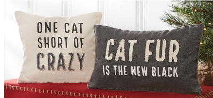Cat Washed Canvas Pillow