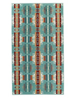 Chief Joseph Pendleton Spa Towel Aqua