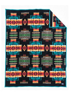 Chief Joseph Black Jacquard Blanket