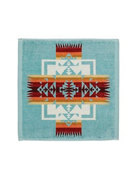 Chief Joseph Jacquard Wash Cloth (Aqua)
