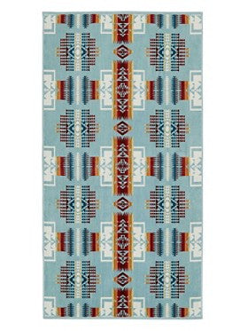 Chief Joseph Jacquard Bath Towel (Aqua)