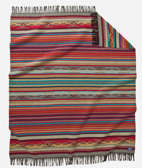 Chimayo Fringed Throw (Garnet)