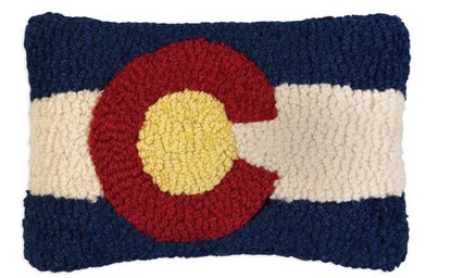 Colorado Flag Wool Pillow