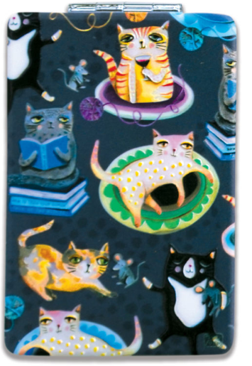 Crazy Cats Compact Mirror