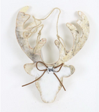 Birch Faux Fur Deer Head Ornament