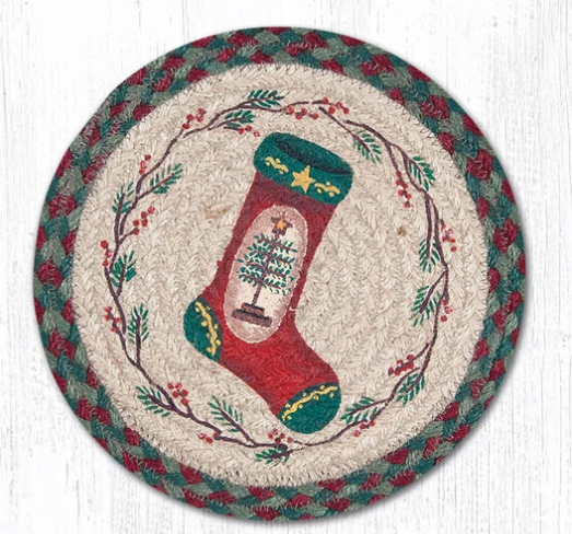 "Feather Tree Stocking 10"" Capitol Earth Mat"