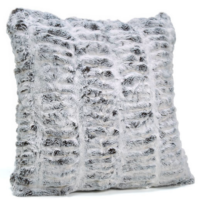 Frosted Grey Mink Faux Fur Pillow
