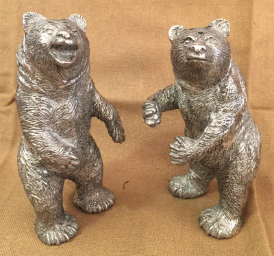 Standing Grizzly Salt and Pepper Shakers
