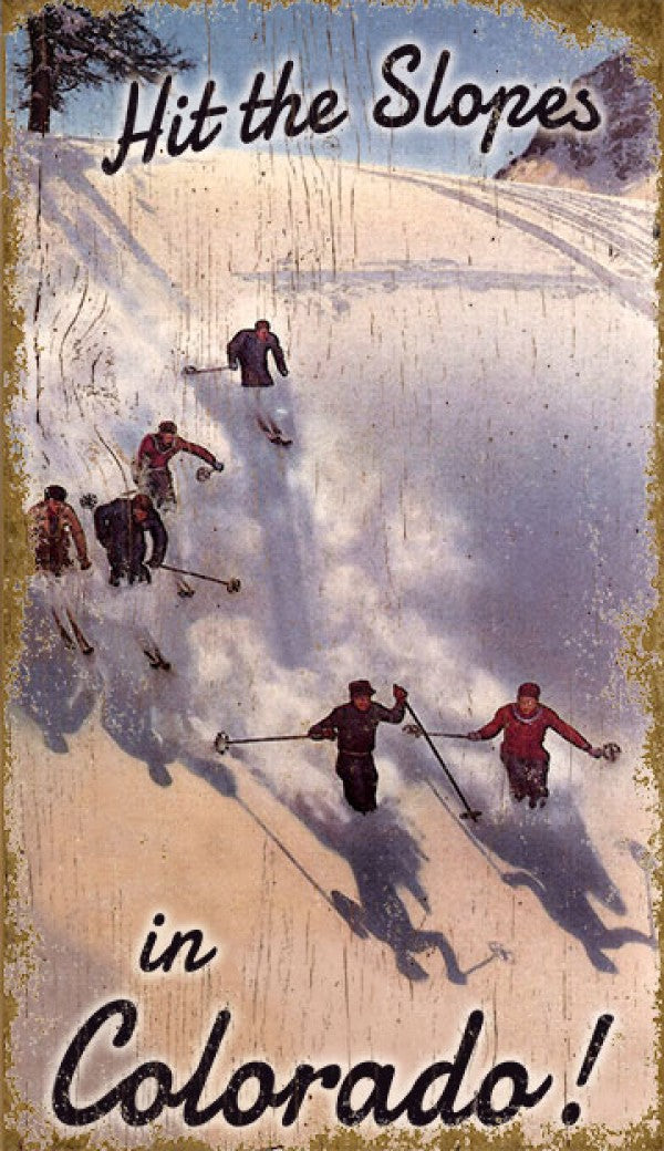 Hit the Slopes Wooden Art (PP-1517)