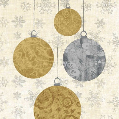 Holiday Ornaments (Beverage Napkin)