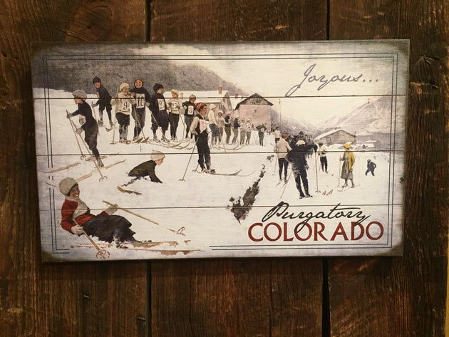 """Joyous...Group of Skiers"" (2165)"