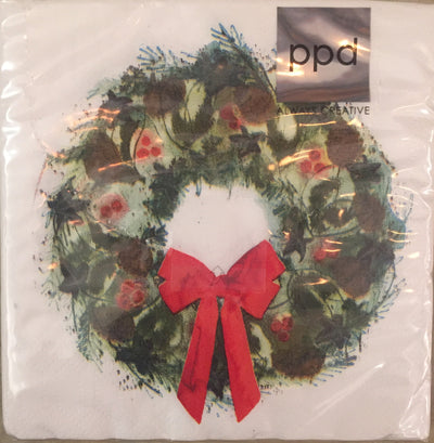 Winter Wreath (Beverage Napkin)