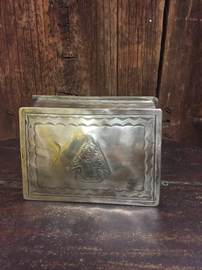 "J. Alexander Stamped Silver Box w/ Arrowhead Icon (4.25"" x 6"")"