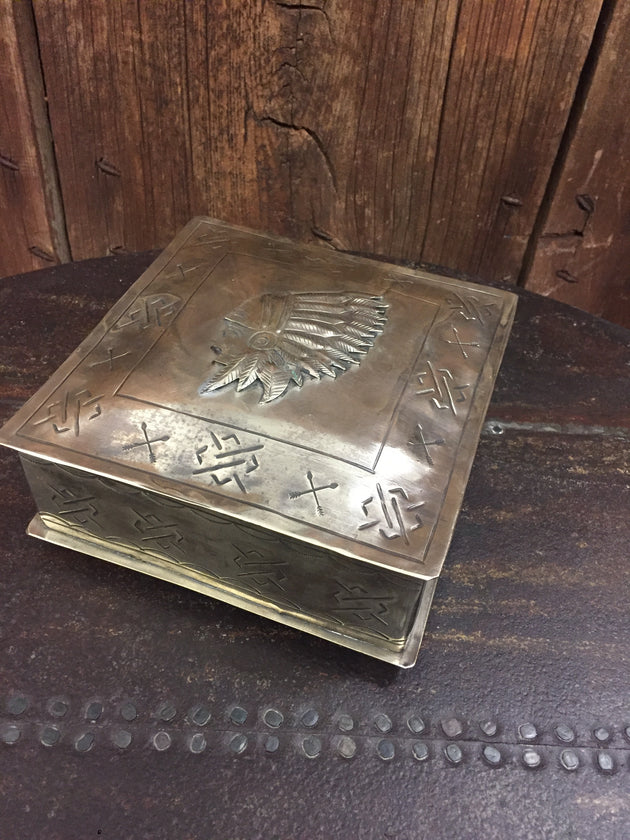 "J. Alexander Stamped Silver Box w/ Chief Icon (6.5"" x 6.5"")"
