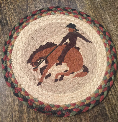 "Bucking Bronco 10"" Capitol Earth Mat"