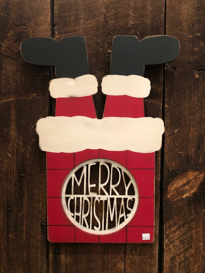 Upside Down Santa - Merry Christmas Insert