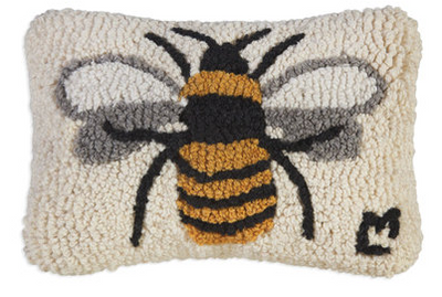 Lone Bee Wool Pillow