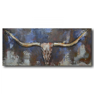 Longhorn Metal Art