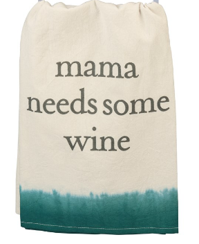 Mama Needs Wine Dish Towel