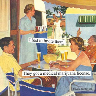 Marijuana License (Beverage Napkin)