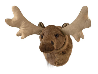 Plush Moose Head Mount