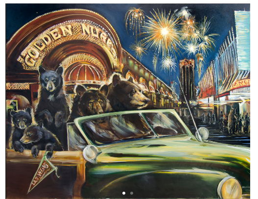 """ Bear's Night Out"" Gallery Wrap"