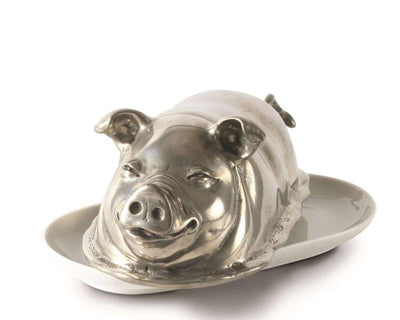Happy Pig Butter Dish