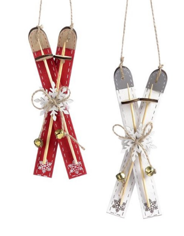 Skis and Poles Ornament