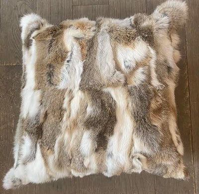 Pieced Rabbit Fur Pillow