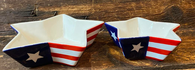 Star Bowl (Red White and Blue)