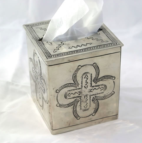 "J. Alexander Stamped Tissue Box Cover (5""x5"")"