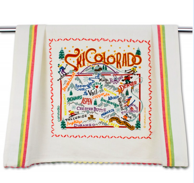 Ski Colorado Dish Towel