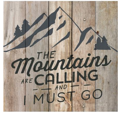 """The Mountains are Calling"" Pallet Art"