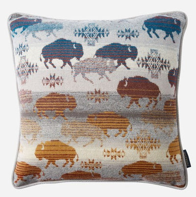 Prairie Rush Hour Grey Pillow