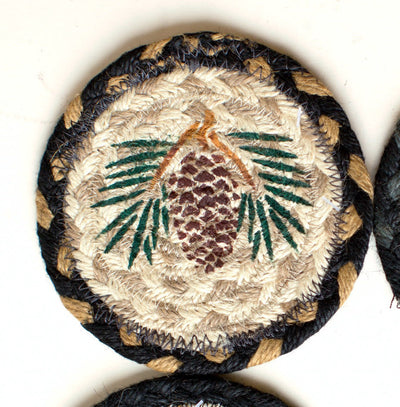 "Single Pinecone Capitol Earth 5"" Coaster"