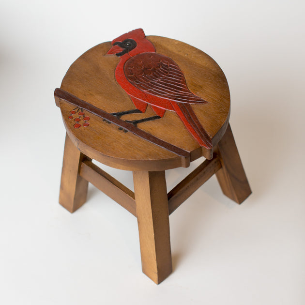 Red Cardinal Step Stool