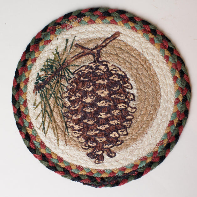 "Single Pinecone 10"" Capitol Earth Mat"
