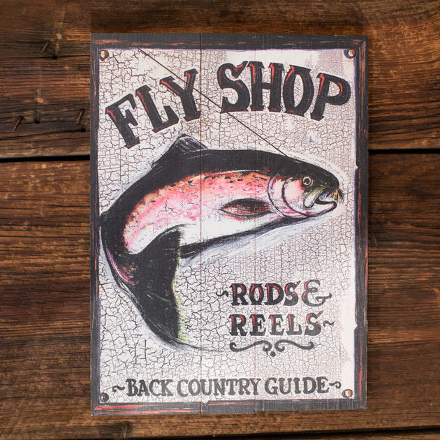 """Fly Shop"" Sign"