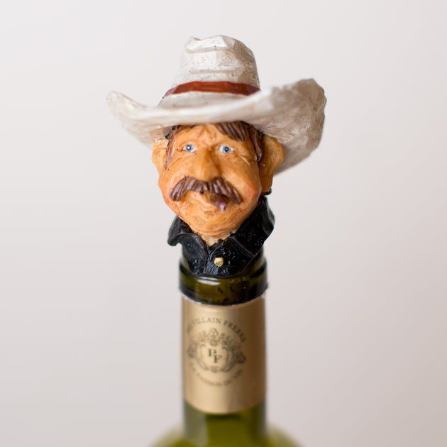 Kenny Cowboy Wine Stopper