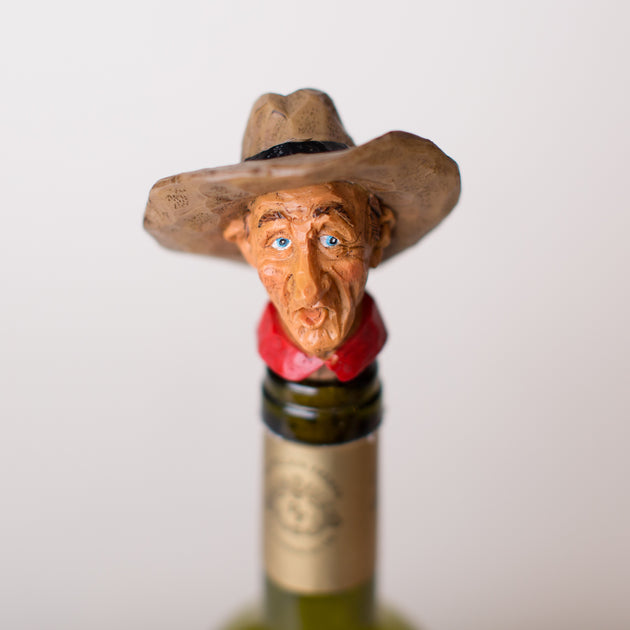 Clarence Cowboy Wine Stopper