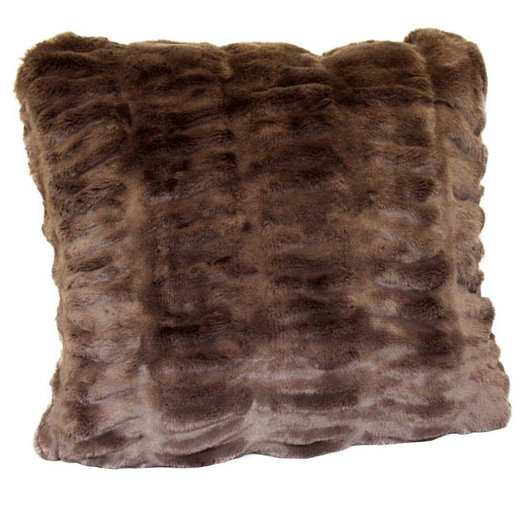 Taupe Mink Faux Fur Pillow