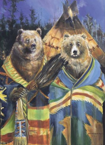 """Teepee Bears"" Gallery Wrap"