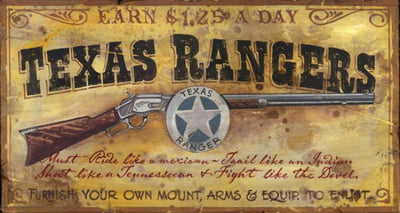 """Texas Ranger"" Sign"