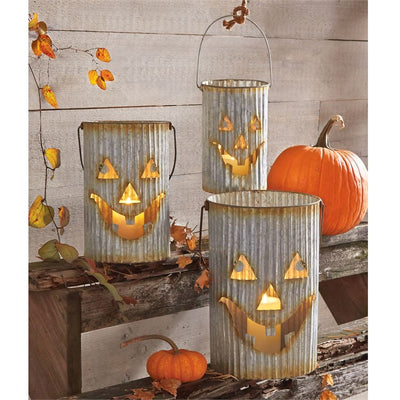 Tin Pumpkin Luminaries