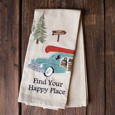 Find Your Happy Place Dish Towel