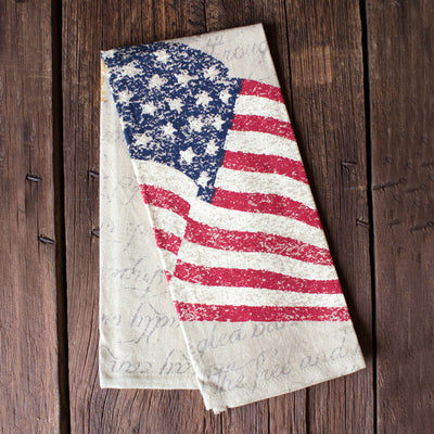 Printed Flag Dish Towel