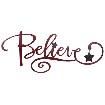 Believe with Star Wall Sign